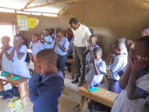 Pupils in class devotion