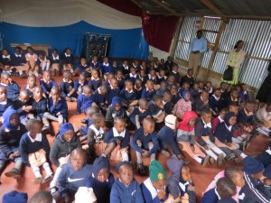 Shelter of Hope Kiambiu Pupils during DBS morning session