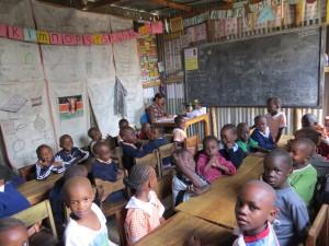 Kiambiu Pupils in Class