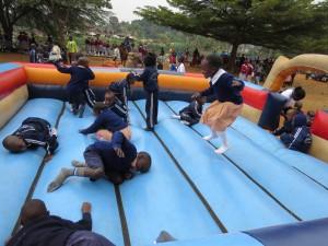 Pupils having fun during their trip