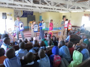 Pupils and guest facilitators during DBS