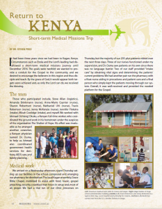 MISSION AT SOHK-KENYA